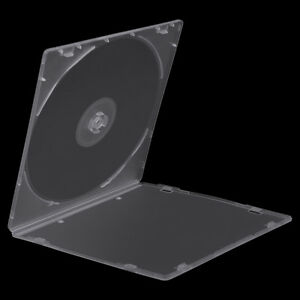 100 Pack Empty Single CD DVD Disc Case 5.2mm Clear PP Storage Cover Replacement