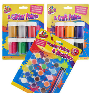VASO-di-Vernice-per-Bambini-Set-POSTER-Paints-3-Set-da-scegliere-Bambini-Set-ART