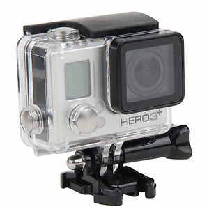 GoPro Hero 3/3+/Hero 4 Underwater Waterproof Dive Case Housing Transparent Stand 629770223657