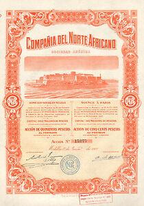 Compania-del-Norte-Africano-SA-accion-Melilla-1908