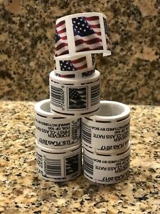 1 Roll of 100 USPS US Flag Forever Postage Stamps