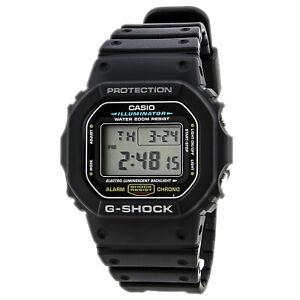 Casio-Men-039-s-Watch-G-Shock-Digital-Cadran-Noir-Bracelet-En-Resine-DW5600E-1