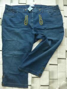 Sheego-Trousers-Jeans-Blue-Tone-Size-50-to-54-3-4-Traditional-Look-318