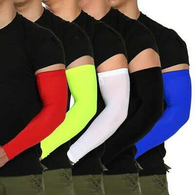 2PCS Sport Arm Sleeves UV Sun Protect Anti-slip Basketball Armband Covers Sight