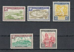 Europe-Cept-1962-Guernsey-Alderney-5-Values-MNH