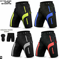 Mens MTB Cycling Shorts Padded Bicycle Off Road Liner Cycle Short All Sizes