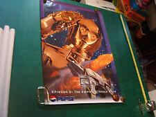 "Original Vintage Poster: Pepsi THE EMPIRE STRIKES BACK Poster; C3PO; 1996 24x36"""