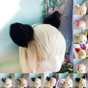 New Kitty Cat ears Headband Hair band Anime Cosplay Costume Party Fancy Dress
