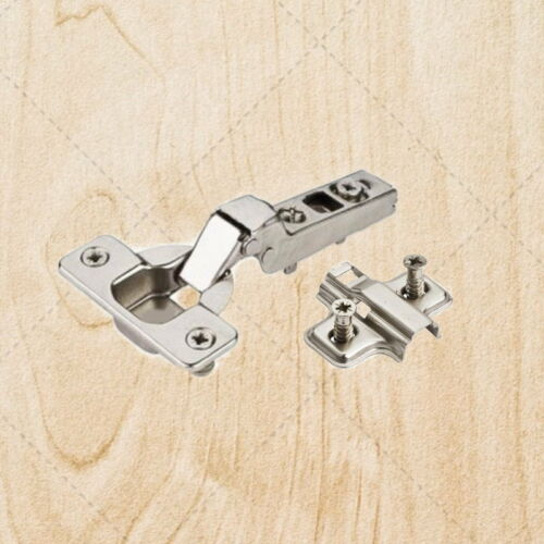 Self Closing Cabinet Hinges Half Overlay Concealed 110 deg w Plate hc00.0179.05