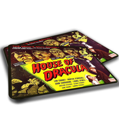 TWO RUGS Horror Movie House of Dracula Poster Design Dracula Wolf Man Hunchback