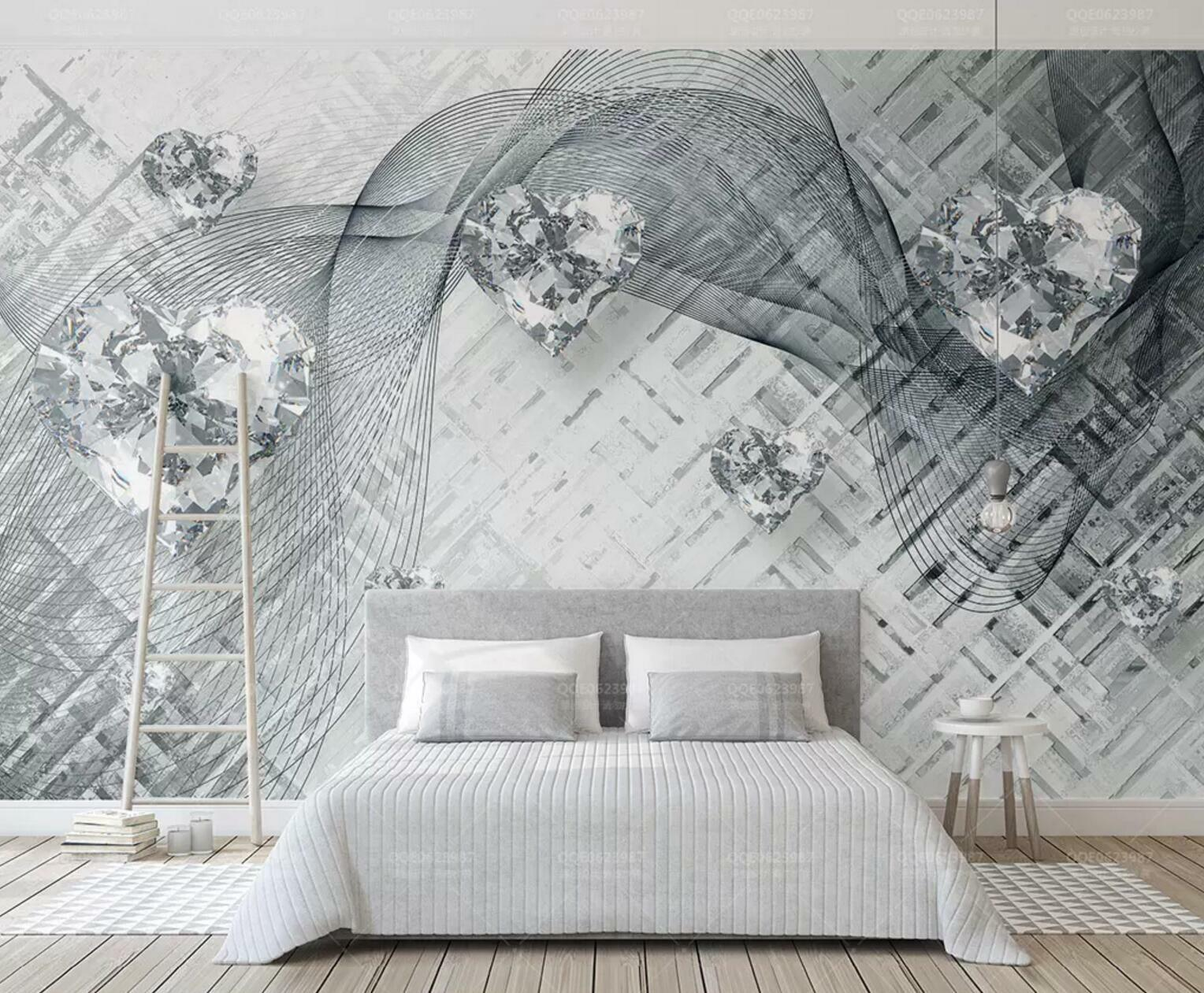 3D Shiny Crystal 53  Wall Paper Exclusive MXY Wallpaper Mural Decal Indoor wall