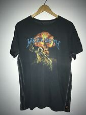 Vintage Megadeth Metal Rock Gray Graphic T-Shirt Size Small/Medium B92