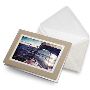 Greetings-Card-Biege-Beautiful-Sailing-Boat-Yacht-3699