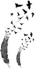Birds of a Feather Temporary Fake Tattoo Waterpoof  Art Transfer Flock Morph Art