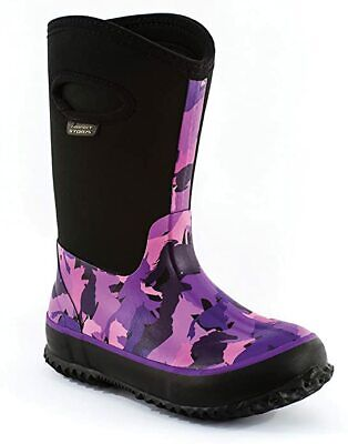 Stampede Black//Purple//Pink Perfect Storm Kids Cloud High Neoprene Boots