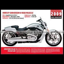 HARLEY-DAVIDSON VRSCF 1250 V-ROD MUSCLE 2009 - Fiche Moto MJ #077