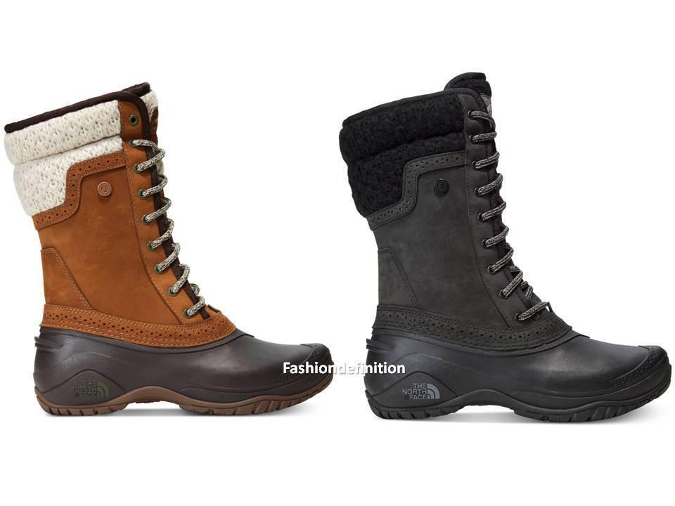 New North Face SHELLISTA  II Mid donna Water Proof Leather stivali scarpe nero Marronee  spedizione veloce a te