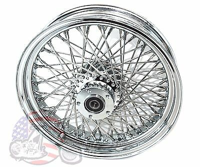 "Chrome DNA 16 X 3.5"" 80 Spoke Front & Rear Wheels Harley Heritage Custom Sale"