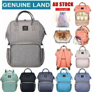 GENUINE-LAND-Multifunctional-Large-Baby-Diaper-Backpack-Changing-Bag-Nappy-Mummy