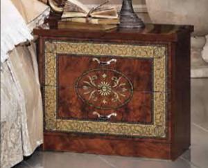 Italian Baroque Bedside Cabinet in Walnut.