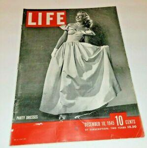 December 10, 1945 LIFE Magazine History 40s advertising FREE SHIP Dec 11 12