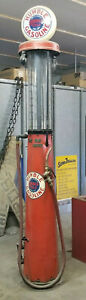 RARE-Restored-Antique-FRY-Visible-Gas-Station-Pump-1920s-10ft-tall-gasoline