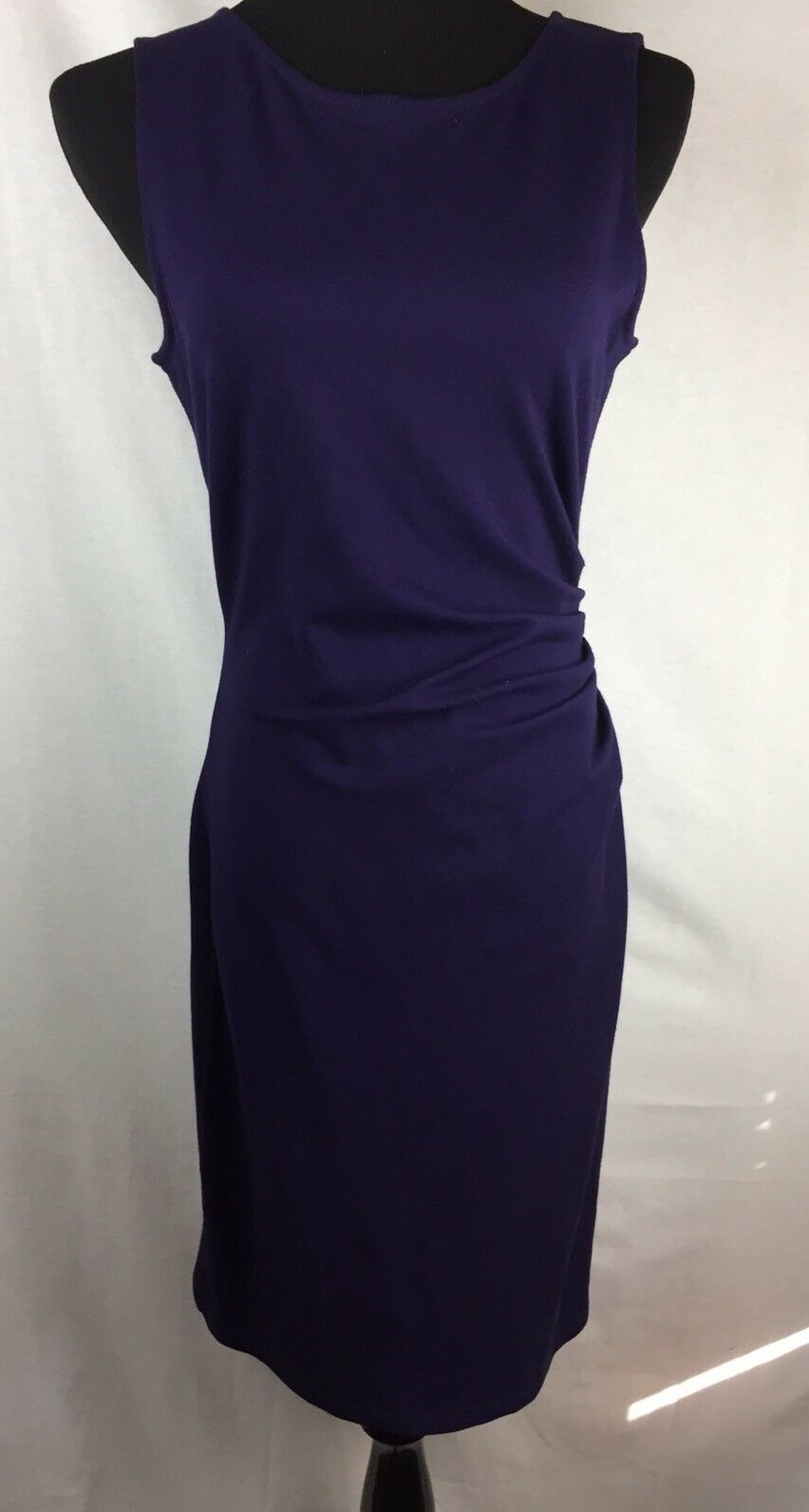 a7266a23ce KENNETH Purple Sheath Dress Ruched Full Zip Bodycon Sleeveless 10 Dress  COLE nnuetw1464-Dresses