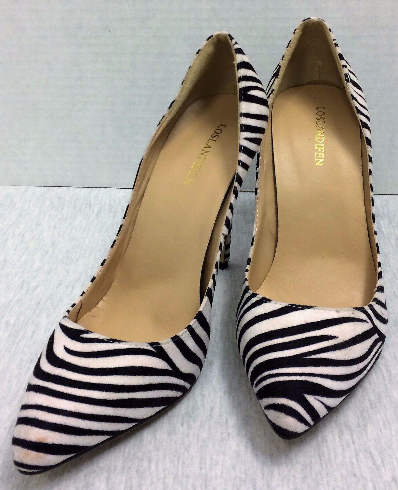 Loslandifen Size Zebra Print Heels Shoes Size Loslandifen 39 Eur Heels 4+ inches 003b64