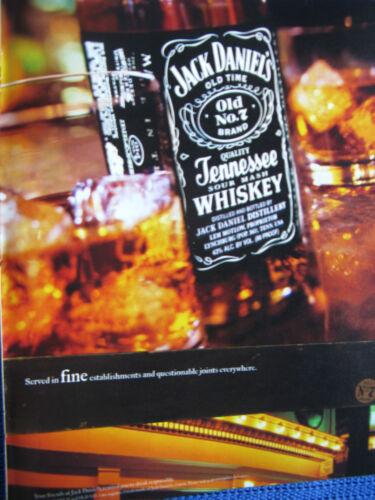 2002 Jack Daniel/'s Fine Establishments /& Questionable Joints Original Print Ad