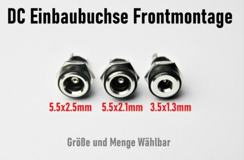 5.5x2.5 DC Socket 5.5x2.1 3.5x1.3mm for Hollow Plug Front Mounting Female