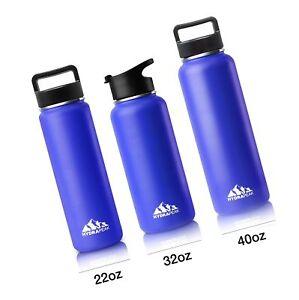 0ea85b04ec Image is loading Hydrapeak-Stainless-Steel-Water-Bottle -22oz-Vacuum-Insulated-