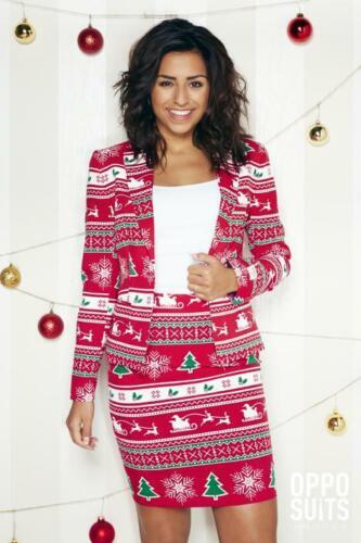 Winterwoman Weihnachtskostüm Damen Kostüm Opposuit Slimline 2-teilig Premium