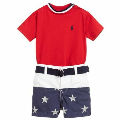 New Baby Boys Ralph Lauren Body Suit//Romper 3 Months-Pure Sapph