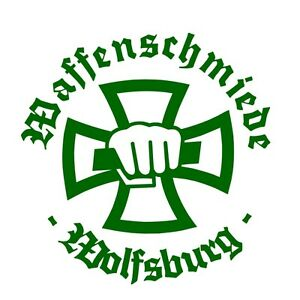 Details Zu Waffenschmiede Wolfsburg Sticker Aufkleber Grün Eisernes Kreuz Iron Cross Eagle