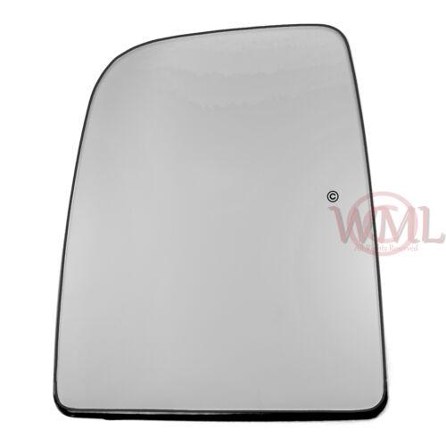 /> 2011 Puerta//Ala Espejo de cristal de plata VOLKSWAGEN Crafter 2006 Izquierda calentado /& Base