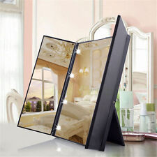 square vanity mirror with lights. Item 1 Makeup Trisided Foldable Square Shape Portable Lighted LED Beauty Vanity  Mirror Big House Travel Electric