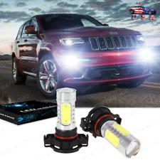 2x Led Fog Light Bulbs Lamp For Jeep Grand Cherokee 2011 2012 White 6000k 100w