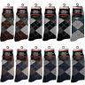 New 12 Pairs Cc Mens Argyle Style Cotton Dress Socks Size 10-13 Black Gray Brown
