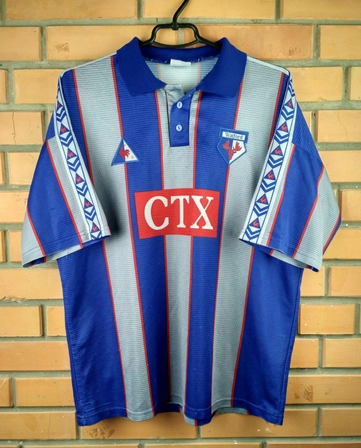 Watford Vintage Retro Jersey Camisa Tamaño M L Fútbol le coq sportif