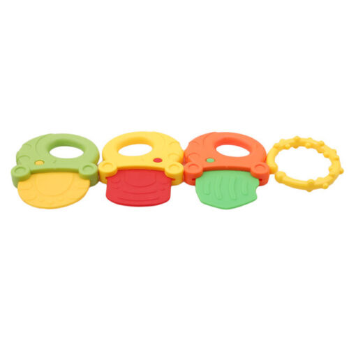 Baby Ice Gel  Colours Teether Toddler Infant Soothing Teething Toy 8C