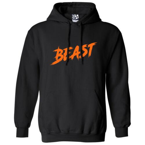 Beast Rage HOODIE Hooded Sweatshirt Hustle Grind Sports Gym All Sizes /& Colors