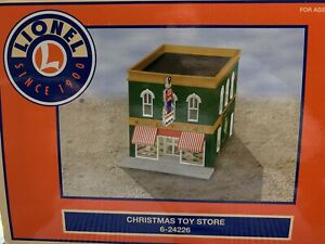 ✅LIONEL CHRISTMAS TOY STORE W// LIGHTED SIGN BUILDING ACCESSORY 6-24226
