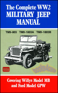 jeep shop manual service repair military willys book ww2 ford gpw mb rh ebay com willys jeep manuals willys jeep manual free download