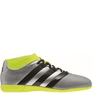 buy online 7b9f6 5aa2a Image is loading adidas-Ace-16-3-Primemesh-Indoor-Silver-Black-
