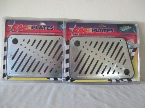 2 NEW ALPENA RACE PLATES METAL FLOOR PADS BLACK /& CHROME LOOK PROTECT FLOOR