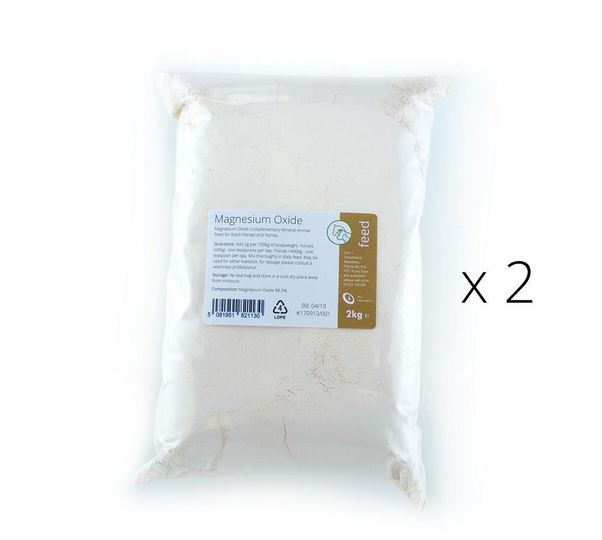MAGNESIUM OXIDE 4kg - Mag Ox Calmer - Horse Equine Supplement - 98.3% Pure