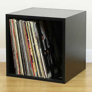 Lovely Image Is Loading Black Square LP Vinyl Music Record Storage Cube