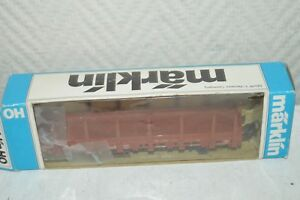 WAGON-MARCHANDISE-A-BARRIERE-DB-MARKLIN-NEUF-TRAIN-LOCO-CAR-BOITE-WAGEN-TANK