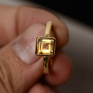 1ct-Asscher-Cut-Yellow-Citrine-Engagement-Ring-14k-Yellow-Gold-Finish-Solitaire