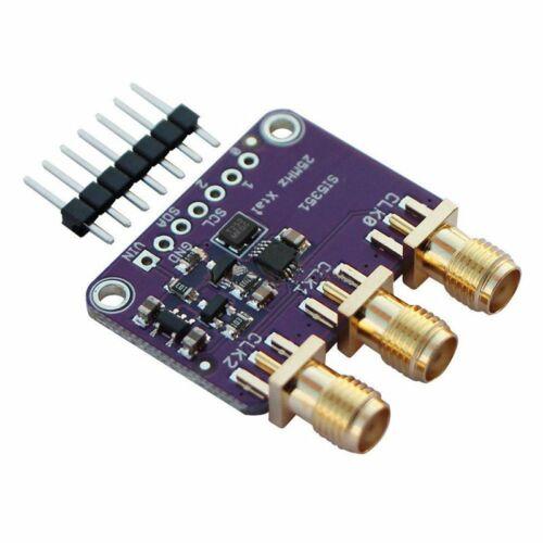 Si5351A I2C 25 MHz générateur d/'horloge Breakout Board 8 kHz à 160 MHz pour Arduino F1U2